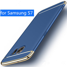 Luxury PC Removable 3 in 1 Cases for Samsung S7 case Samsung Galaxy S7 case cover hard back protection S7 capas coque blue gold