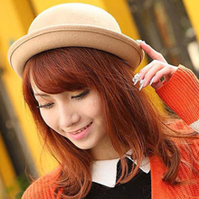 1 pc Trendy Wool Blend Felt Bowler Fedora Hat Cap Vintage Spring Hats Caps for Women(China)