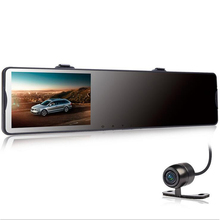 QUIDUX Full HD 1080P Car Dvr Camera Auto 4.3 Inch Rearview Mirror Digital Video Recorder Dual Lens Registratory Camcorder