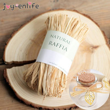 JOY-ENLIFE 10roots/bag Raffia Rope DIY Crafts Wedding Invitation Gift Packing Rope Natural Raffia Rope Wedding Party Decor