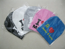 10piece/lot i love mama i love papa baby hat baby cap infant cap cotton infant hats skull caps toddler boys girls gift