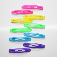 10 pcs / set neon color hair snap clips fancy daily use metal hair clips girl's fashion hair pins hair accessories