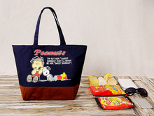 3 Style Kawaii Snoopie Cartoon Dogs Canvas Shopping Bag Women Leisure Bag Tote 28*30*15CM Kids Girls Christmas Gifts brinquedos
