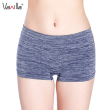 Buy Vanilla Sexy Women Ladies Boyshort Casual Comfortable Seamless Boxer Shorts Culotte Femme Safety Panties Sexy Lingerie Underwear