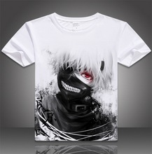 VXO  cartoon T-shirt Men and women Men Summer  Creative 3D Tokyo Ghoul T-shirts Animation Cartoon Sasuke Ninja Print T Shirts
