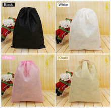Non woven clothes Storage Dust bag Packaging for handbag Travel Sundries storage Pull rope 10pcs/lot Free shipp(China)