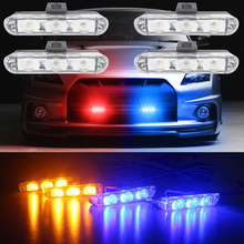 High Quality 4x3/led Ambulance Police light DC 12V Strobe Warning light for Car Truck Emergency Light Flashing Firemen Lights