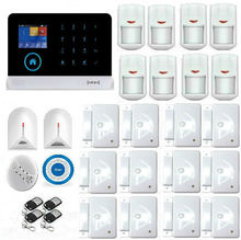 Wireless 433Mhz WIFI GSM SMS Home Burglar Security Alarm System With Wireless Siren Glass Break Detector Safety Alert