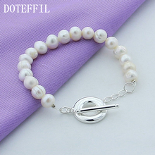 New Girl Real Natural White Freshwater Pearl Bracelet For Women High Quality Female Jewelry