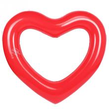 NEW Lovely Pool Inflatable Toys 120*120CM Ring Heart Shape Pool Float Swimming Ring Toys Pool Float Buoy Heart For Adult Kids