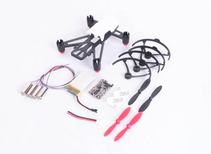KINGKONG Q100 frame 8520 hollow cup motor + F3 brush flight control + propeller + Paddle protection for FPV small quadcopter<br>