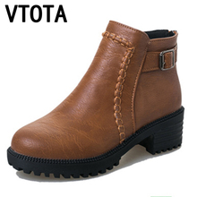 VTOTA Classics boots women 2017 Brand shoes woman Soft leather Ankle Boots for Women wedges breathable platform boots X544