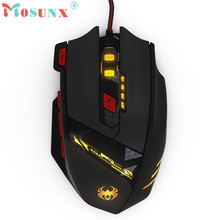Mosunx Advanced 2017 computadora por cable  ZELOTES 8000 DPI 8 Key Memory Chips Design 6 Optical LED Wired Game Mouse 1PC