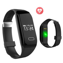 Cheap 24H HR Smart Watch Heart Rate Monitor Pulse Pedometer Sleep Fitness Smartwatch For Iphone 6 7 Xiaomi Huawei PK hmiwatch 3
