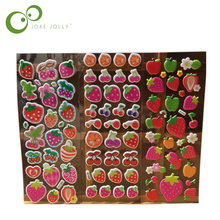 5 Sheets Special Scrapbooking Bubble Puffy Stickers Kawaii Fruits strawberry Kids Children Toys stickers
