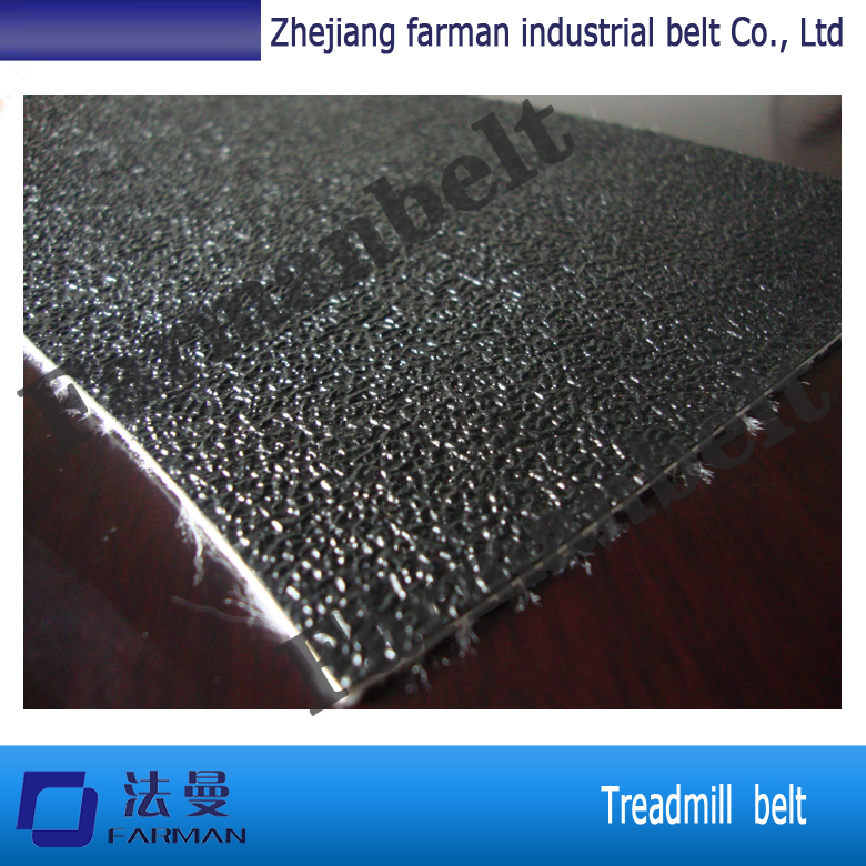 Black grass PVC treadmill conveyor belt with 1.4mm thickness<br>