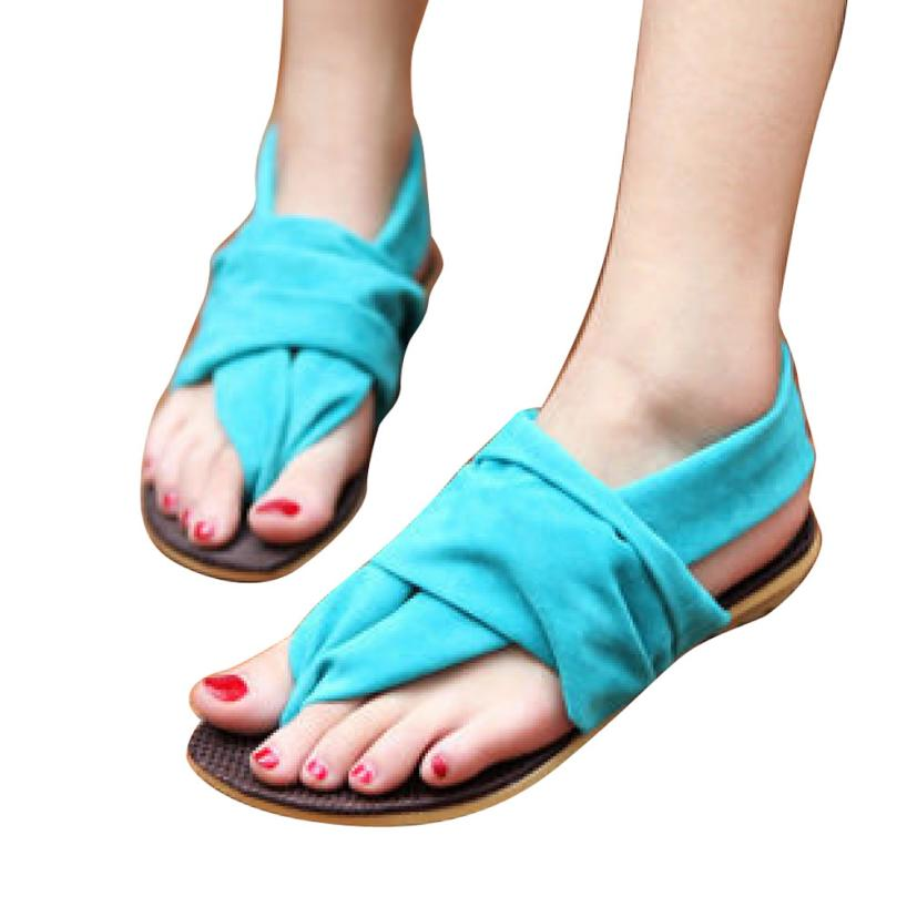 Women Bandage Cotton Sandals Clip Toe Herringbone Sandals Flat Shoes Best Gift Wholesale Jan3<br><br>Aliexpress