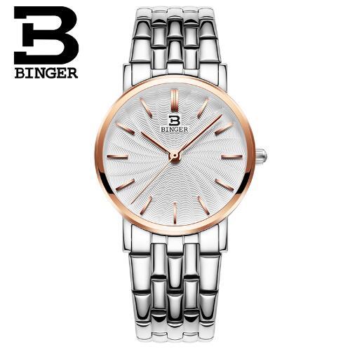 Switzerland Luxury Brand Watch Casual Binger Alloy Women Quartz Watch Rose Gold Lady Dress Watch Relojes Mujer Relogio Montre <br>