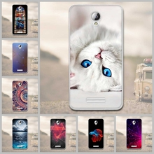 Luxury Floral 3D Relief Case for Lenovo A5000 Scenery Printed Soft Silicone Cell Phone Cases For Lenovo A5000 A 5000 Cover Bags