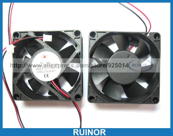 6 Pcs Brushless DC Cooling Fan 7 Blade 24V 7025s 70x70x25mm 2 Wire <br><br>Aliexpress