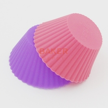 Colorful thick silicone bakeware mold Muffin cups puffs jelly mold 7cm cake molds CDSM-097