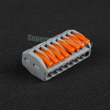 Free shipping 10Pcs PCT-218   Universal Compact Wire Wiring Connector Connectors 8 pin Conductor Terminal Block With Lever