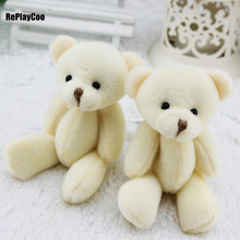 50pcs/lot Kawaii Small Joint Teddy Bears Stuffed Plush 12CM Toy Teddy-Bear Mini Bear Ted Bears Plush Toys Wedding Gifts 014(China)