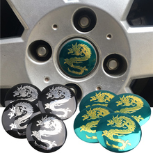 4pcs/ Lot Cool dragon Car Steering tire Wheel Center car sticker Hub Cap Emblem Badge Decals For Honda VW Audi BMW Car styling(China)