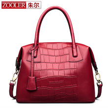 ZOOLER Luxury Chinese Style Red Women Genuine Leather Bag Cowhide Real Leather Bridal Bag Retro Vintage Female Crossbody Handbag(China)