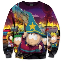 2016 New Fashion Mens/Womens Sweatshirts South Park Explosion 3D Print Casual Sweatshirt Funny Cartoon character Sweatshirt(China)