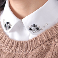 Shirt Fake Collar Korean style Women Detachable Collars fashion classic chiffon Sweater Fake Collar Women's accessories(China)
