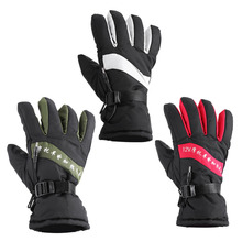 2017 Motorcycle Gloves Winter Warm 12V Heated Gloves Outdoor Ski Racing Waterproof Guantes Motocross Luvas Windproof Protective(China)