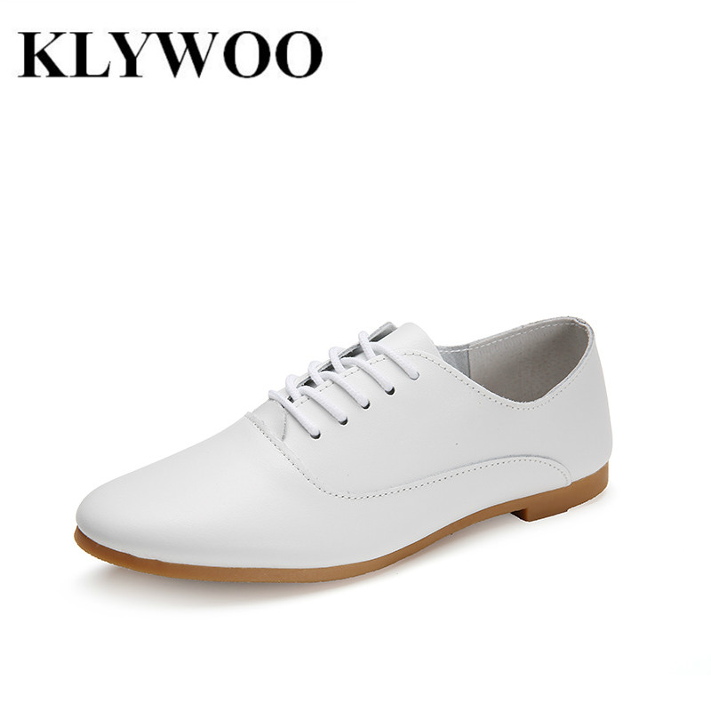 Spring Women Genuine Leather Shoes White Breathable Woman Hand-Sewn Leather Flats Cowhide Flexible Boat Shoes Women Loafer<br><br>Aliexpress
