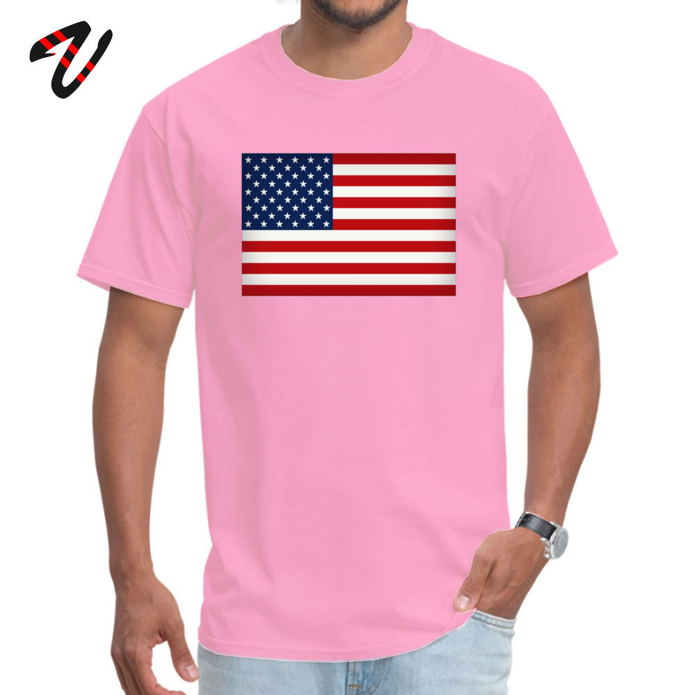Funny American Flag T-Shirt New Arrival Summer Fall Short Sleeve Round Collar T Shirt 100% Cotton Fabric Men 3D Printed T Shirts American Flag 5782 pink