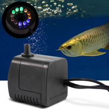 15W 800L/h  Water Pump with 12 Color LED Light Submersible Fountain Pool Fish Tank Aquarium Fountain Pond Pool Pumps Decoration