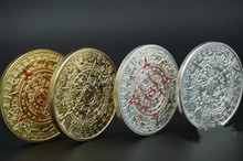 mix4 Different design 1oz 24k FINE GOLD COIN MAYAN PROPHECY CALENDAR 2012 layrd coin mayan silver coin,20pcs/lot(5set)(China)