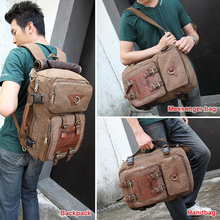 luggage backpack canvas travel bag retro backpack(China)