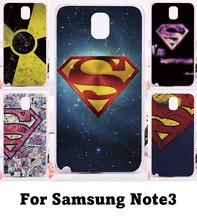 Custom Phone Cover For Samsung Galaxy Note III 3 Note3 Cases Superman America Captain Medal Plastic and Silicon Phone Protective