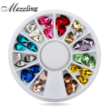 Buy Hot Drop Water Nail Art Decoration Rhinestones 5X8mm 3d Glitter Charm Nail Gem Stones Wheel DIY Nail Jewelry Accessories for $1.29 in AliExpress store