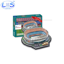 Camp Nou Football Field Fun 3D Model Puzzle Famous buildings 3D Jigsaw Puzzle Educational Toys