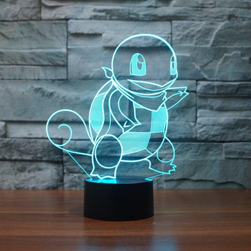 Faithful Elephant Animal Figure 3d Illusion Led Lamp Colorful Change Desk Nightlight Flash Lighting Model Toys For Children Action & Toy Figures