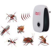 UK EU US PLUG Electronic Pest Repeller Ultrasonic Rejector Mouse Mosquito Rat Mouse Repellent Anti Mosquito Repeller killer Rode(China)