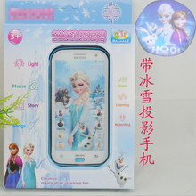 Snow Queen Toy Phone Talking Princess Anna Elsa Phone Mobile Learning & Education Baby Mobilephone Electronic Children Kids Toys