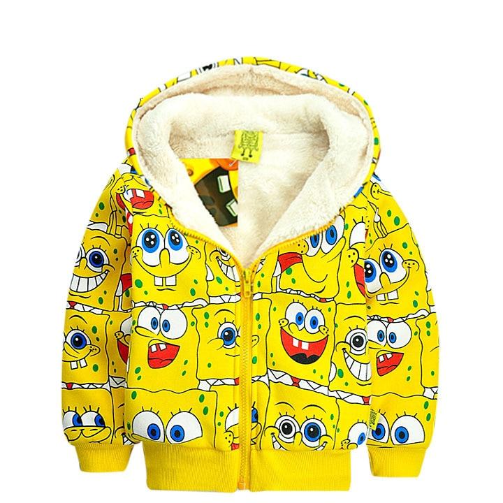 New Winter Despicable Sponge Bob Paragraph Children Coat Cashmere Coat Kids Coat Baby Boy Jacket Winter Outerwear &amp; Coats<br><br>Aliexpress