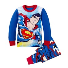 New Children Pajamas Set Kids Baby Girl Boys Cartoon Casual Pijamas Kids Superman BatMan Pyjamas Sleepwear Nightgown