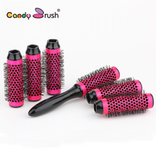 Best Round Hair Brush Set Blow Dry Thermal Hair Brush with Detachable Roller Diameter 35mm Ceramic Brush 6rollers