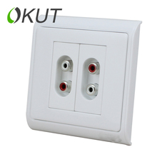 OKUT  Double RCA free solder screwing audio jack audio amplifier Wall Plate