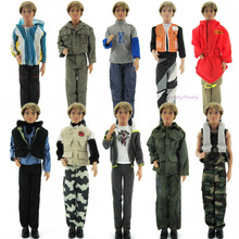 Random Pick 3 Set/Lot Cool Male Outfit Mixed Style Uniform Clothes For Barbie Doll Boyfriend Ken Pretend Play Accessories Gift(China)