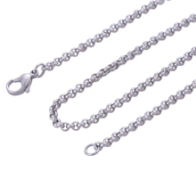 2.4mm 3mm 316L stainless steel necklace chains, women Silver Color stylish accessories necklaces jewelry