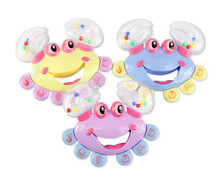Plastic Crab Toy Jingle Baby Kid Musical Educational Shaking Rattle Handbell Hot